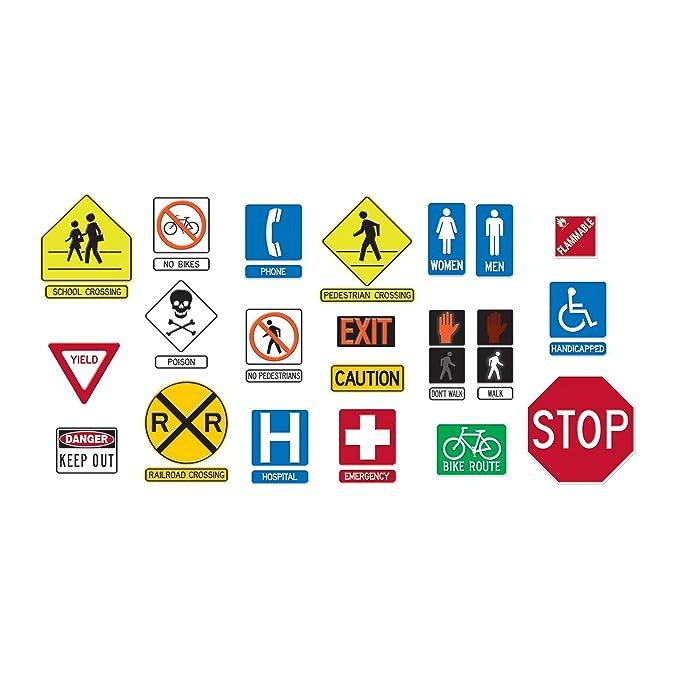 Amazon Trend Enterprises Safety Signs Symbols Bulletin Board