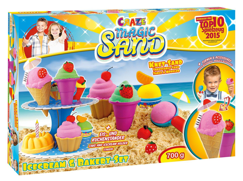 CRAZE Magic Sand Set Icecream /& Bakery