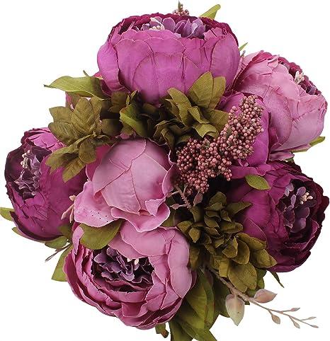 Ornements pour salon Nouveau UK Vase Avec Couleur Différents Fleurs artificielles