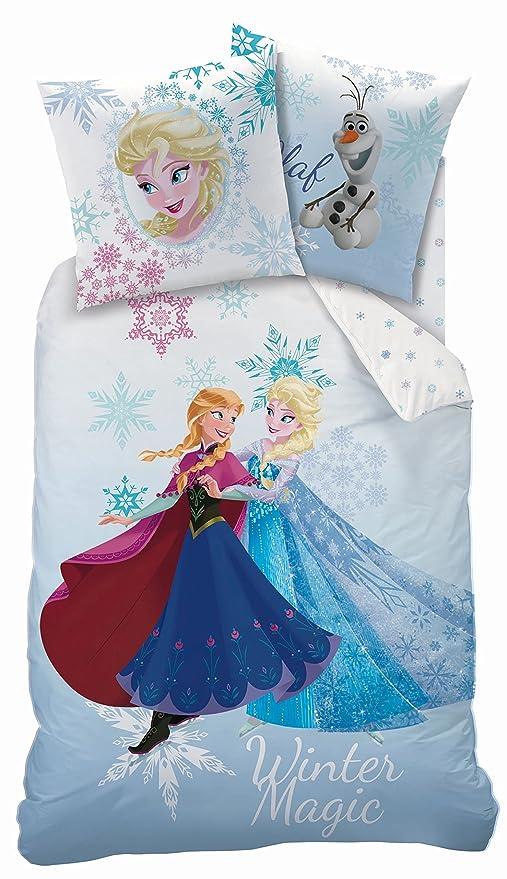 Copripiumino Frozen Disney.Disney Frozen Set 2pz Copripiumino E Federa Con Zip 160x200cm