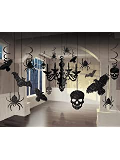glitter haunted house chandelier halloween trick or treaty party decorating kit paper 15 - Halloween Decorations Paper