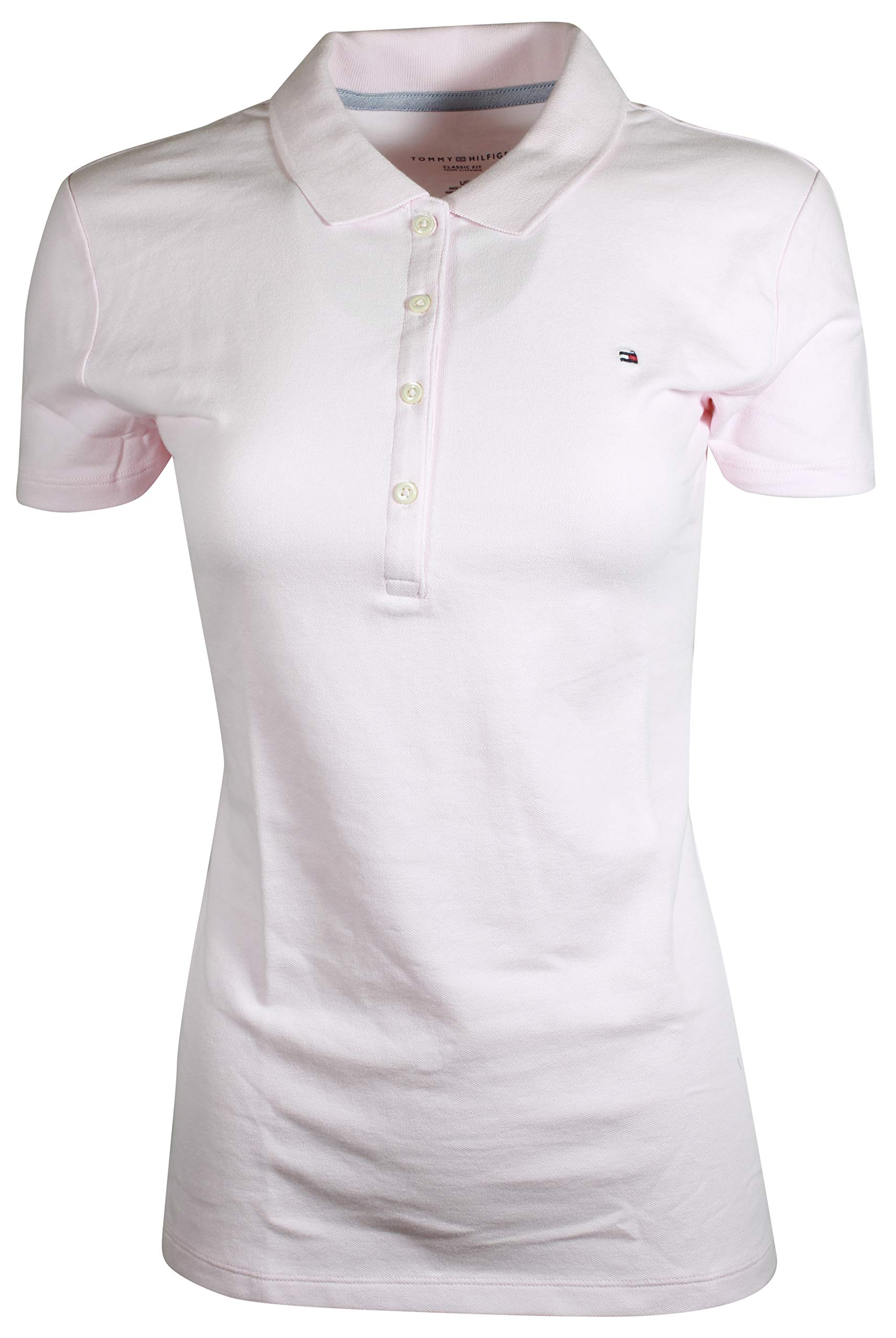 f9e442ef Galleon - Tommy Hilfiger Women's Classic Fit Logo Polo T-Shirt (S, Light  Pink)