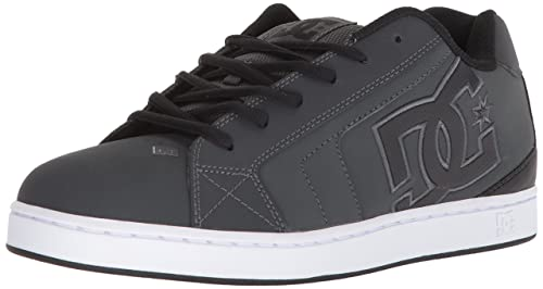 DC Men's Net Skate Shoe, Grey/Black, 6 D D US