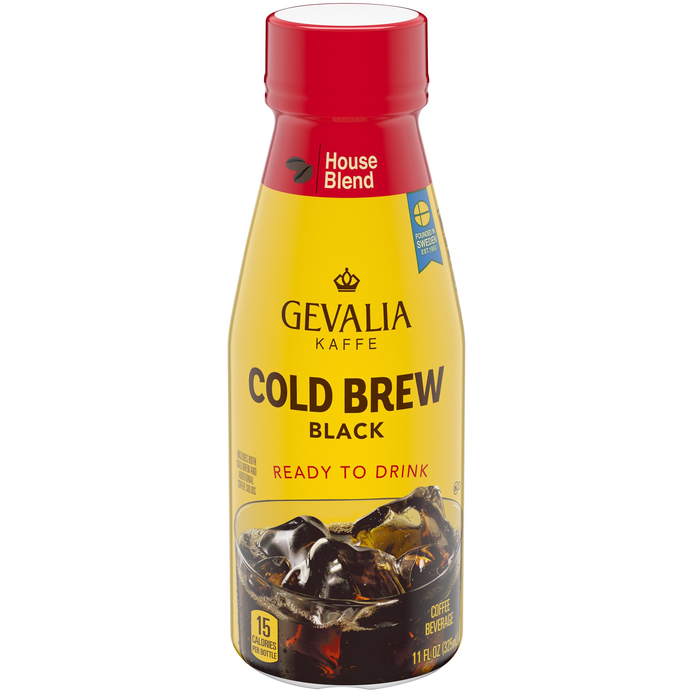Gevalia Cold Brew Iced Coffee (11 oz Bottle, Pack of 12)
