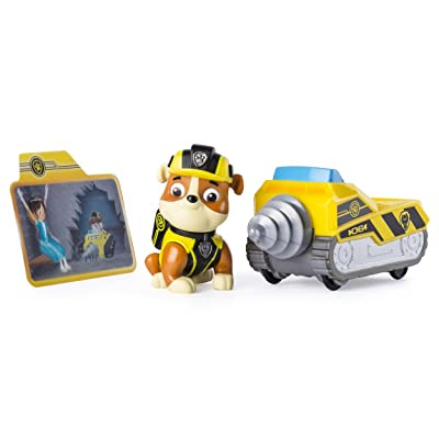 Paw Patrol Mission Paw - Rubble's Mini Miner - Figure and Vehicle: Toys & Games