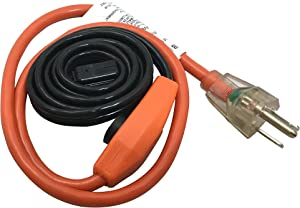 Frost King HC3A Automatic Electric Heat Cable Kits, 3ft x 120V x 7 Watts/ft, 3 Feet, Black