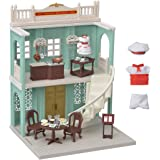 Calico Critters Town Series Delicious Restaurant, Fashion Dollhouse Playset, Furniture and Accessories Included (CC3012)