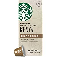 Starbucks 肯尼亚胶囊咖啡(浓度9) 兼容Nespresso咖啡机 (12盒,共120 粒胶囊)