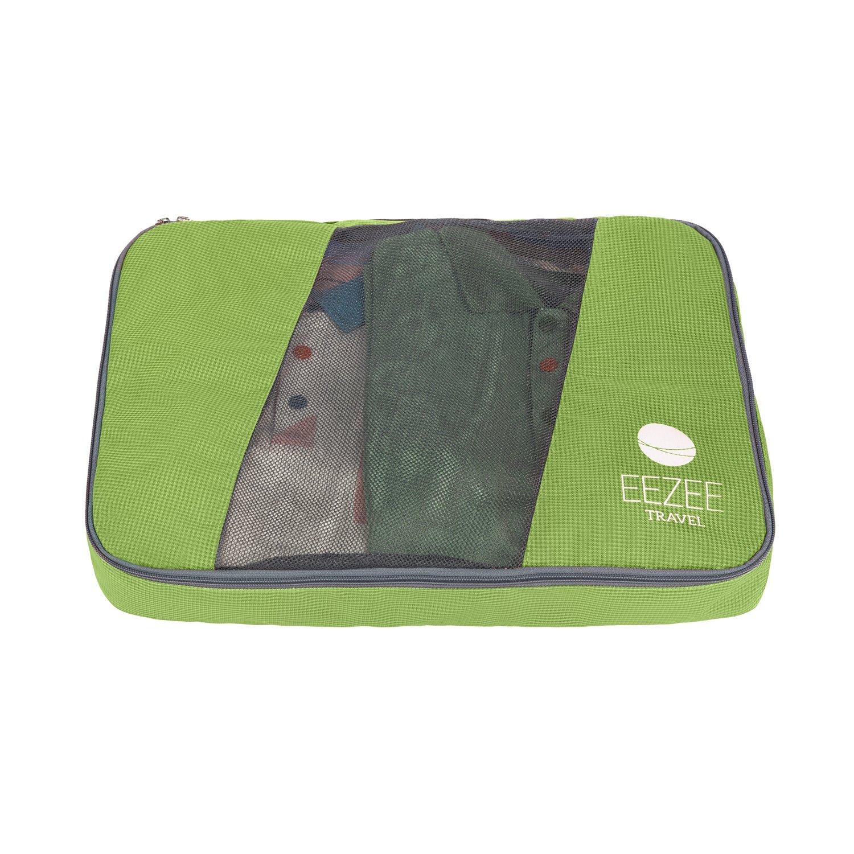 2x moyen et 2x grand EEZEE Organisateur l/éger de v/êtements et syst/ème de stockage sac de voyage ou sac de blanchisserie avec le double rev/êtement de Ripstop PU enduisant de 4