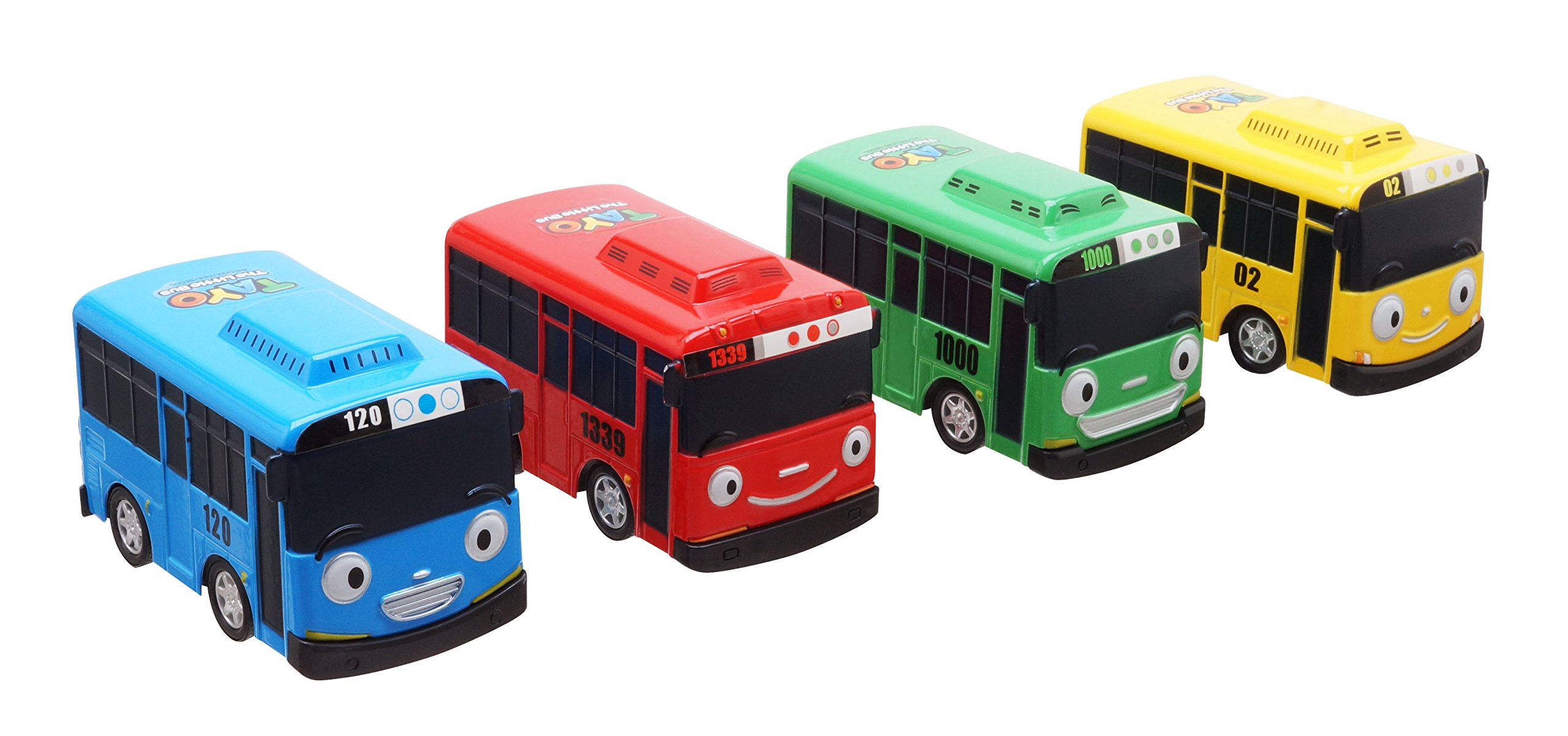 Tayo Gani Lani Rogi - The Little Bus Tayo Special Metal Vehicles Set 4pcs