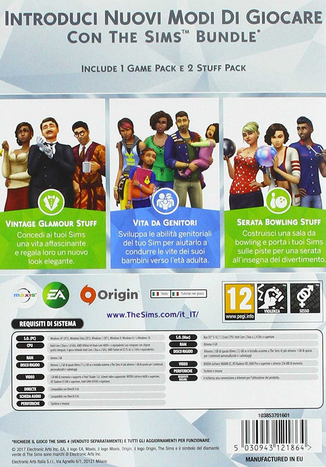 The Sims 4 Game & Stuff Pack 9 - PC [Importación italiana]: Amazon ...