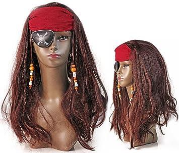Hochwertige Fasching Piraten Braut Perucke Mit Perlen Amazon De