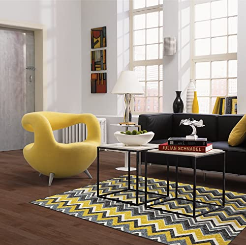 Mohawk Home New Wave Ziggidy Chevron Printed Area Rug