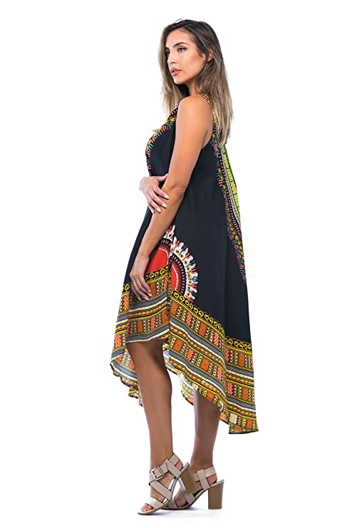 23d5d6e766f Riviera Sun African Print Dashiki Dress for Women at Amazon Women s  Clothing store