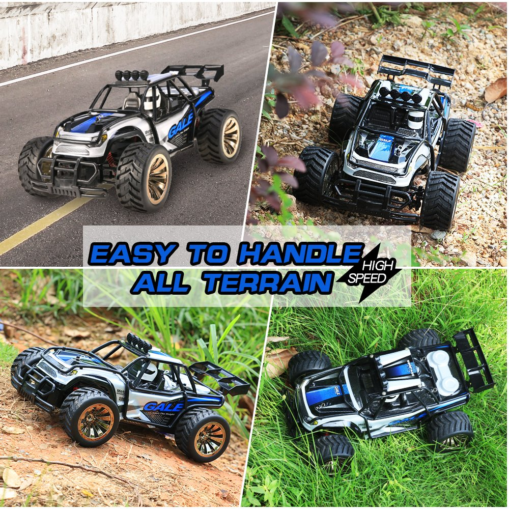 Distianert 1:16 Scale Electric RC Car Off Road Vehicle 2.4GHz Radio Remote Control Car 2W High Speed Racing Monster Truck by Distianert (Image #1)