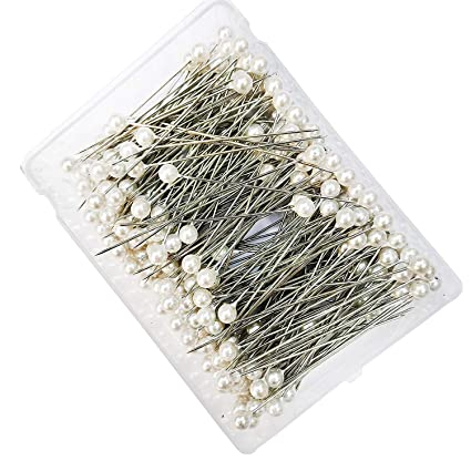 Diy Crafts 6mm 2 5 L 144pcs White Round Pearl Headed Pins