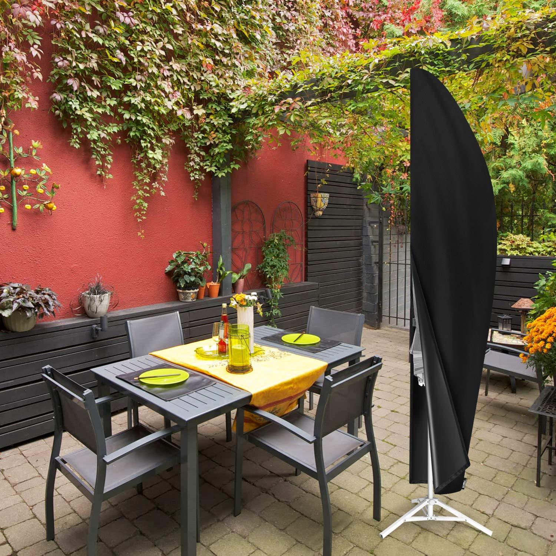 Umi Schwarz 265 x 40 // 70 // 50cm Essentials Schutzh/ülle f/ür Ampelschirm Schwerlast Wasserdicht Oxford-Gewebe Sonnenschirm Ampelschirm Abdeckung