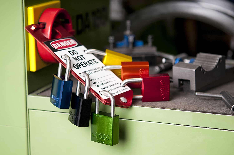 Purple ABUS 72//30 KA Safety Lockout Aluminum Keyed Alike Padlock