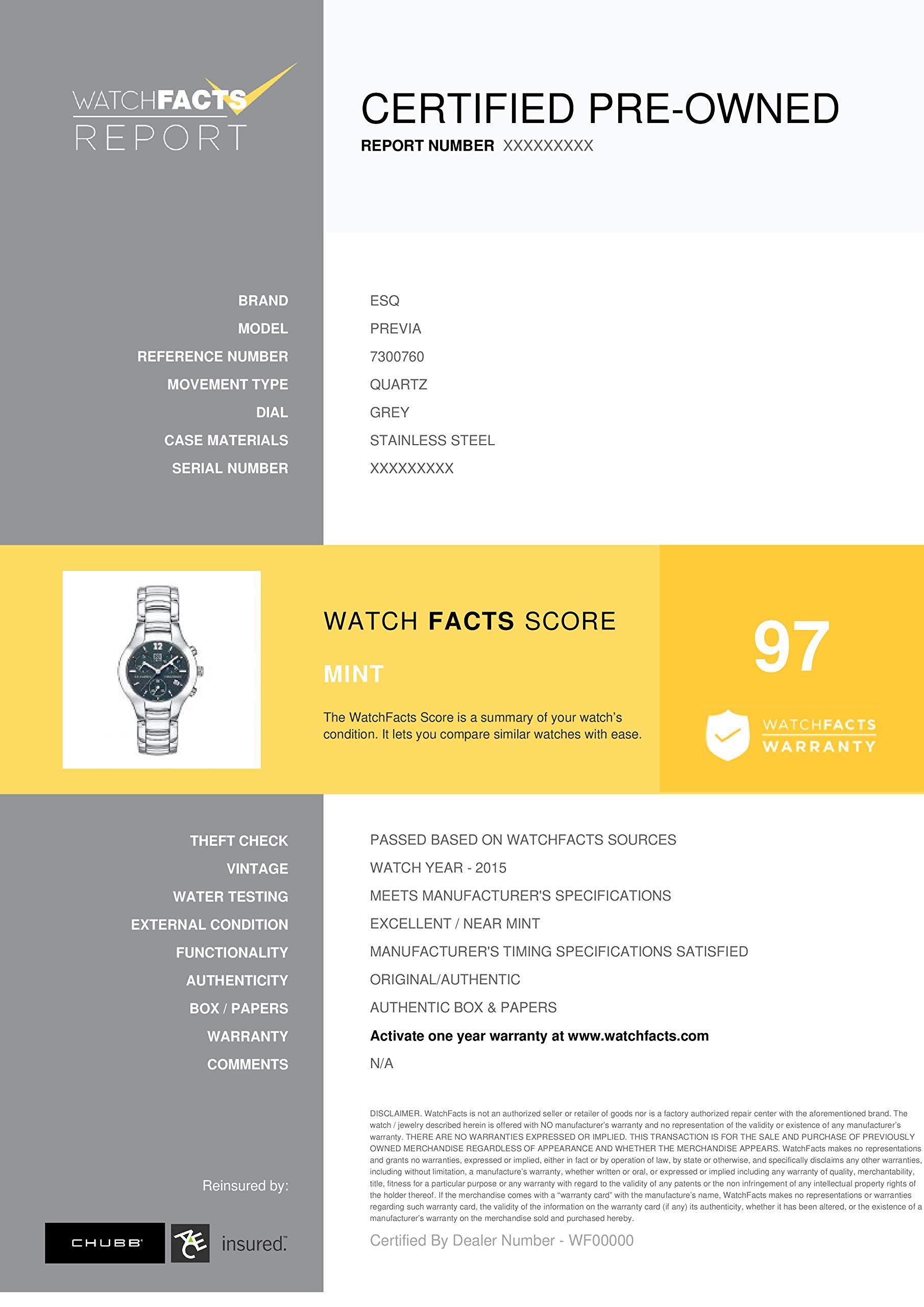 ESQ Previa Quartz Male Watch 7300760 (Certified Pre-Owned) by ESQ (Image #3)