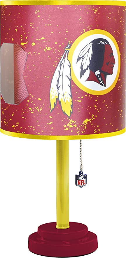 Amazon nfl washington redskins table lamp with die cut lamp nfl washington redskins table lamp with die cut lamp shade mozeypictures Image collections