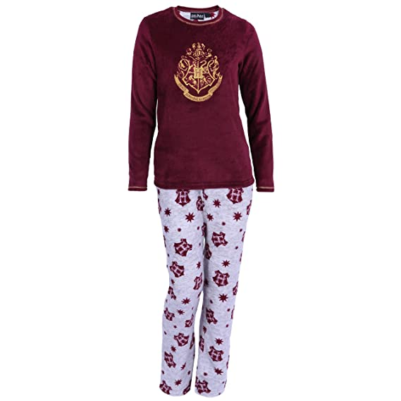 Pijama Harry Potter, Lana, Color Gris/Burdeos - 9-10 Años 140 cm ...