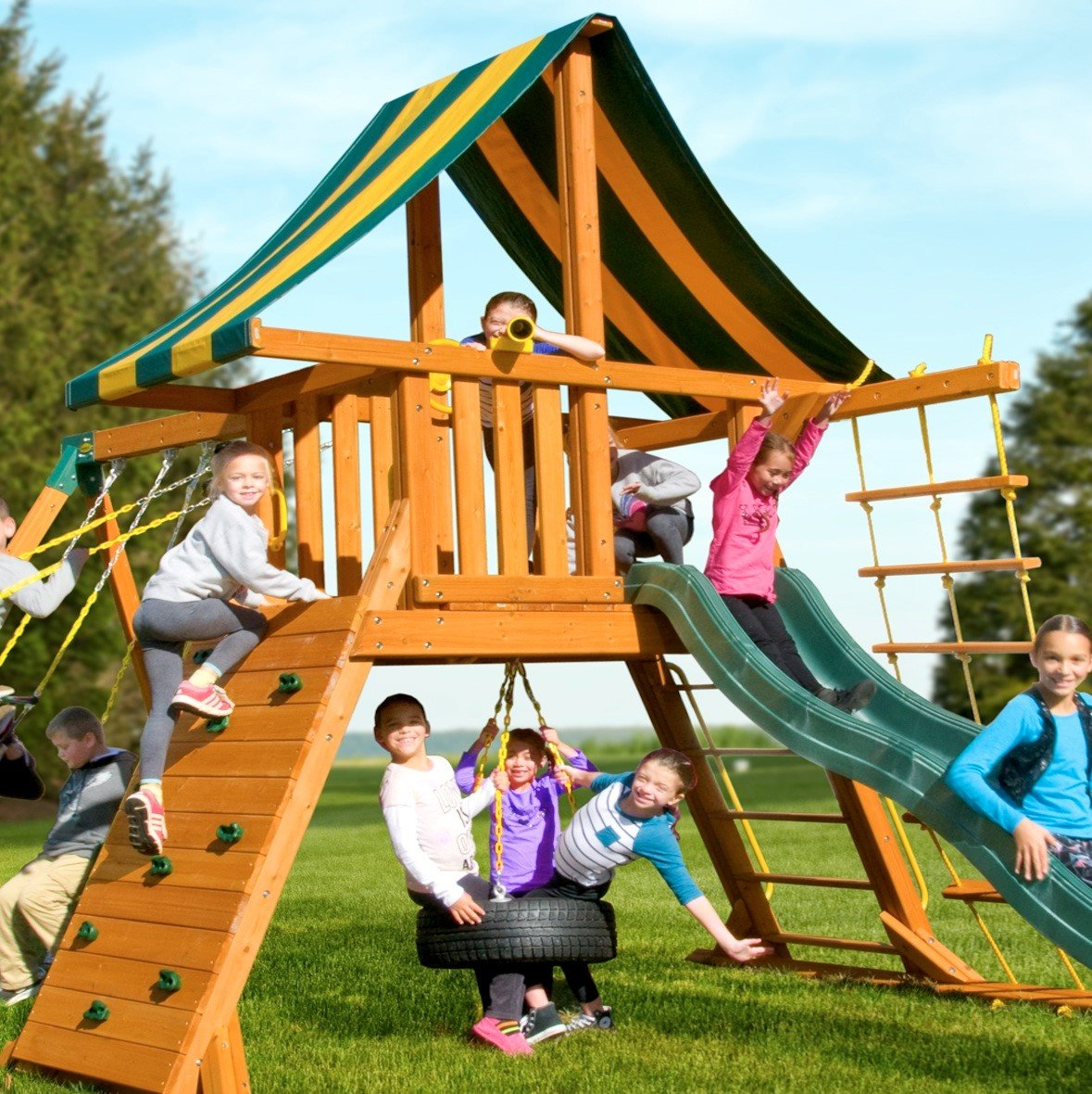Eastern Jungle Gym Extra Large Plastic Toy Telescope Swing Set Accessory Green for Outdoor Wooden Swing Set by Eastern Jungle Gym (Image #5)