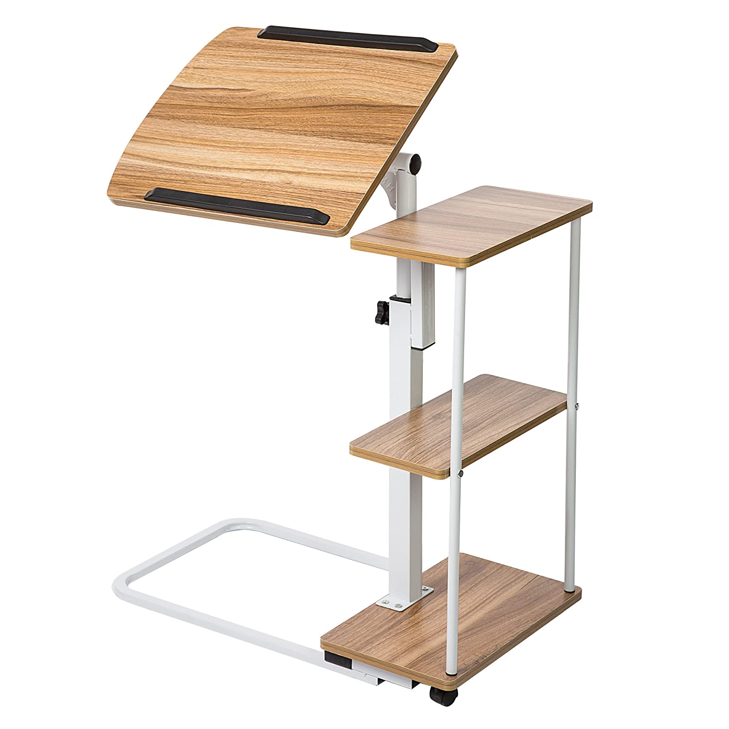 amazon walnut personal com table medical health drive dp tilt care top overbed