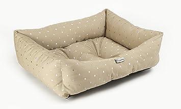 Chilli perro Natural diseño de lunares lavable perro y gato cama grande: Amazon.es: Productos para mascotas