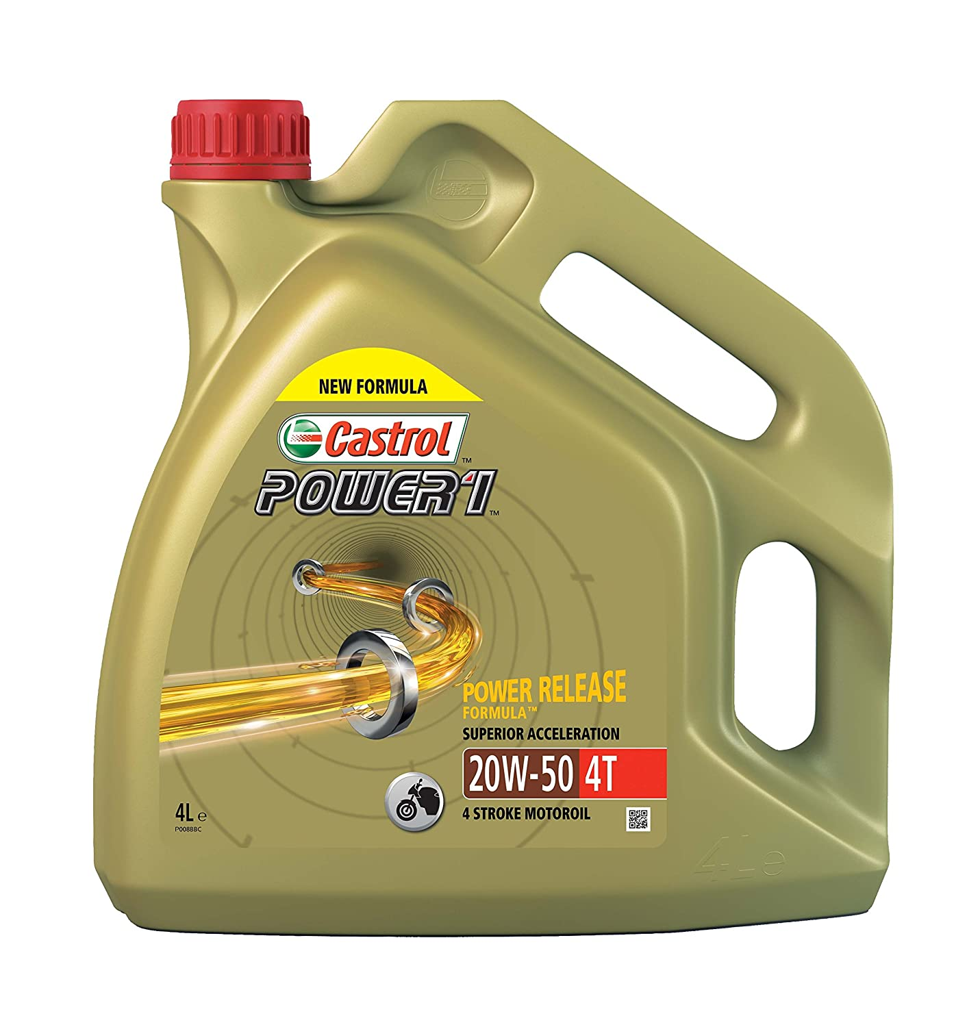Castrol Synthetic Power 1 4T SAE 20W-50 Engine Oil, 4L Castrol Limited 15049B