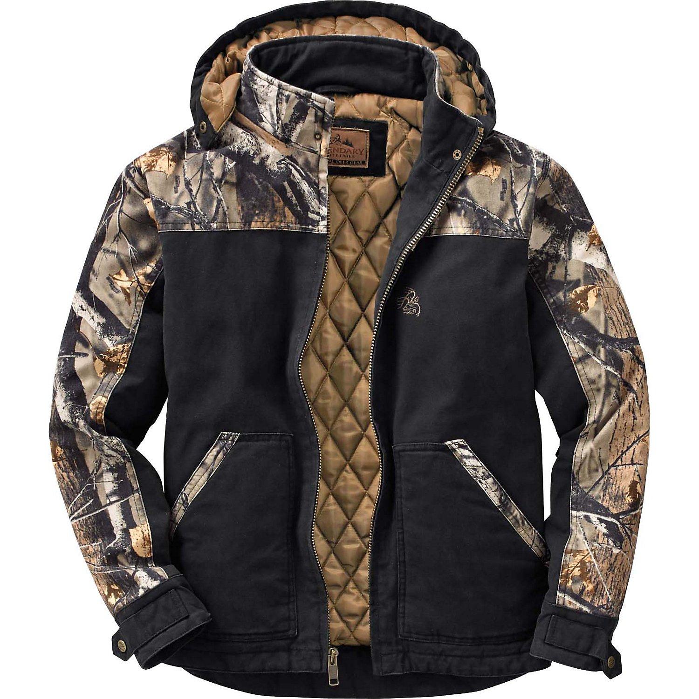 Legendary Whitetails Canvas Cross Trail Workwear Jacket Black Large