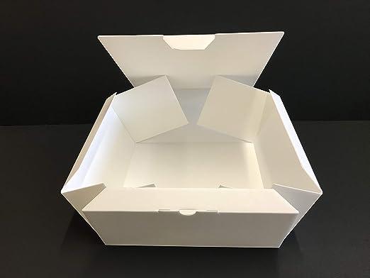 LAMINIL Cajas para Tartas, Dulces y pastelería isotérmicas Isolambox. Juego de 5 Cajas de 26 x 26 x 12 cm, Grosor 2 mm, automontantes con Acabado en Papel Kraft: Amazon.es: Hogar