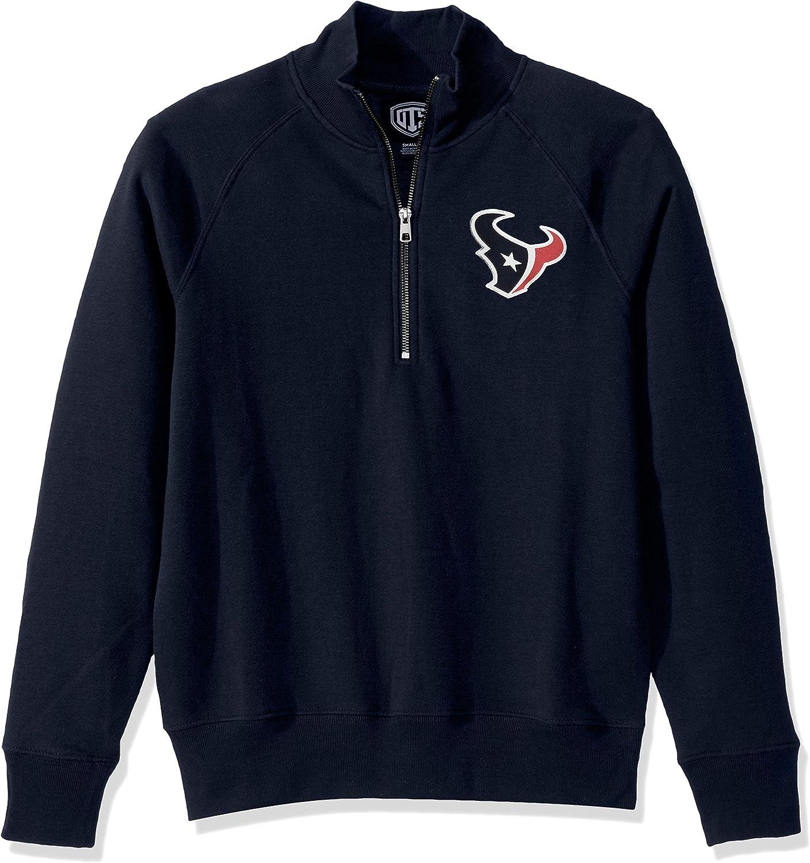 NFL Womens OTS Fleece 1//4-Zip Foil Pullover