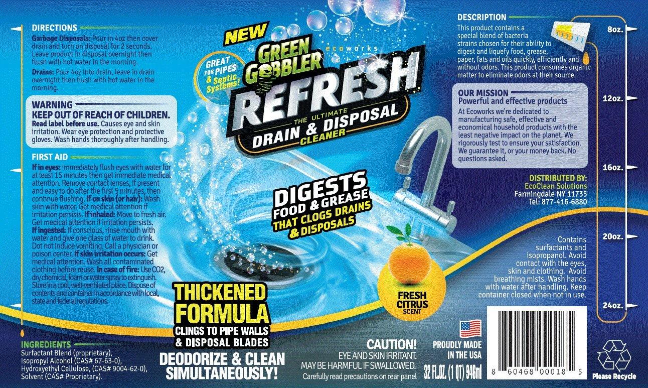 Green Gobbler ''Refresh Garbage Disposal & Drain Cleaner & Deodorizer (1 Gallon) by Green Gobbler (Image #2)