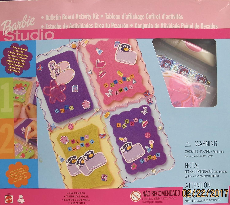 Amazon.com: Barbie Studio Bulletin Board Craft Activity KIT ...