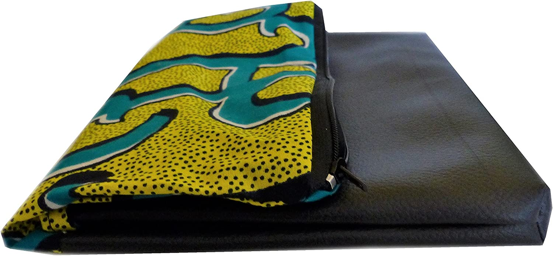 Sac 2 en 1// Sac Pochette//Sac a rabat//Pochette femme//Tissu Wax Africain Imprim/é Fleur Motif geometrique