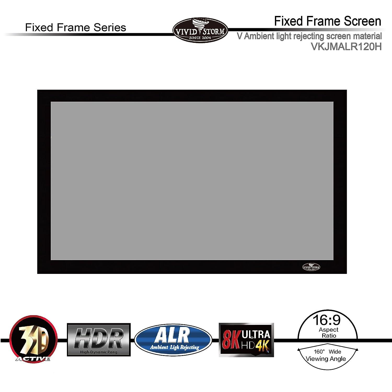 Amazon.com: VIVIDSTORM Fixed Frame Screen,120-inch Diagonal 16:9 ...