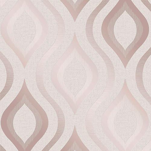 Apex Geo Wallpaper Rose Gold: Fine Decor FD42264: Amazon.co.uk: DIY & Tools