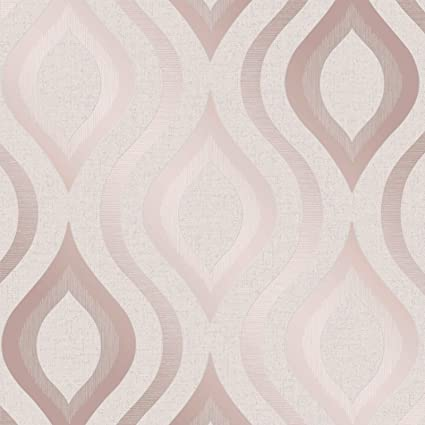 Quartz Geometric Wallpaper Rose Gold Fine Decor Fd42206 Amazoncom