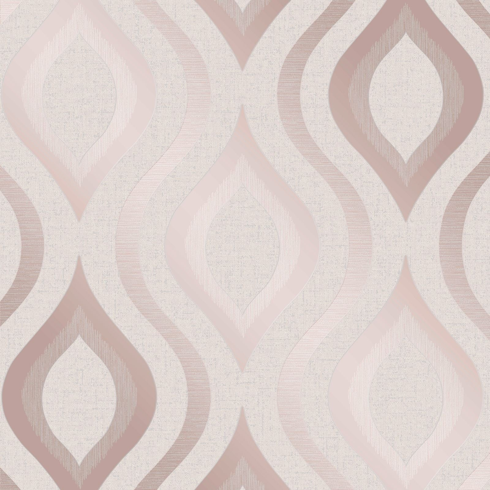 Quartz Geometric Wallpaper Rose Gold Fine Decor FD42206