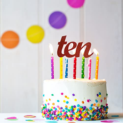 Amazon Ten Cake Topper 10th Birthday Tenth