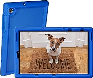 BobjGear Rugged Tablet Case for Lenovo Tab M10 FHD Plus 10.3 inch (TB-X606F) Premium Washable Silicone, Kid Friendly, Shockproof (Batfish Blue)