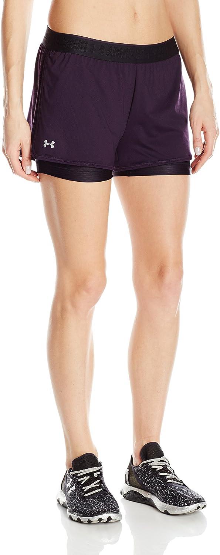 Under Armour UA Heatgear Pantalones Cortos Estampados 2 en 1 para Mujer