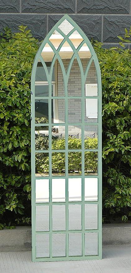 Bentley garden-Espejo de mano de jardín para niños, diseño gótico para cristal, color verde claro, verde: Amazon.es: Jardín