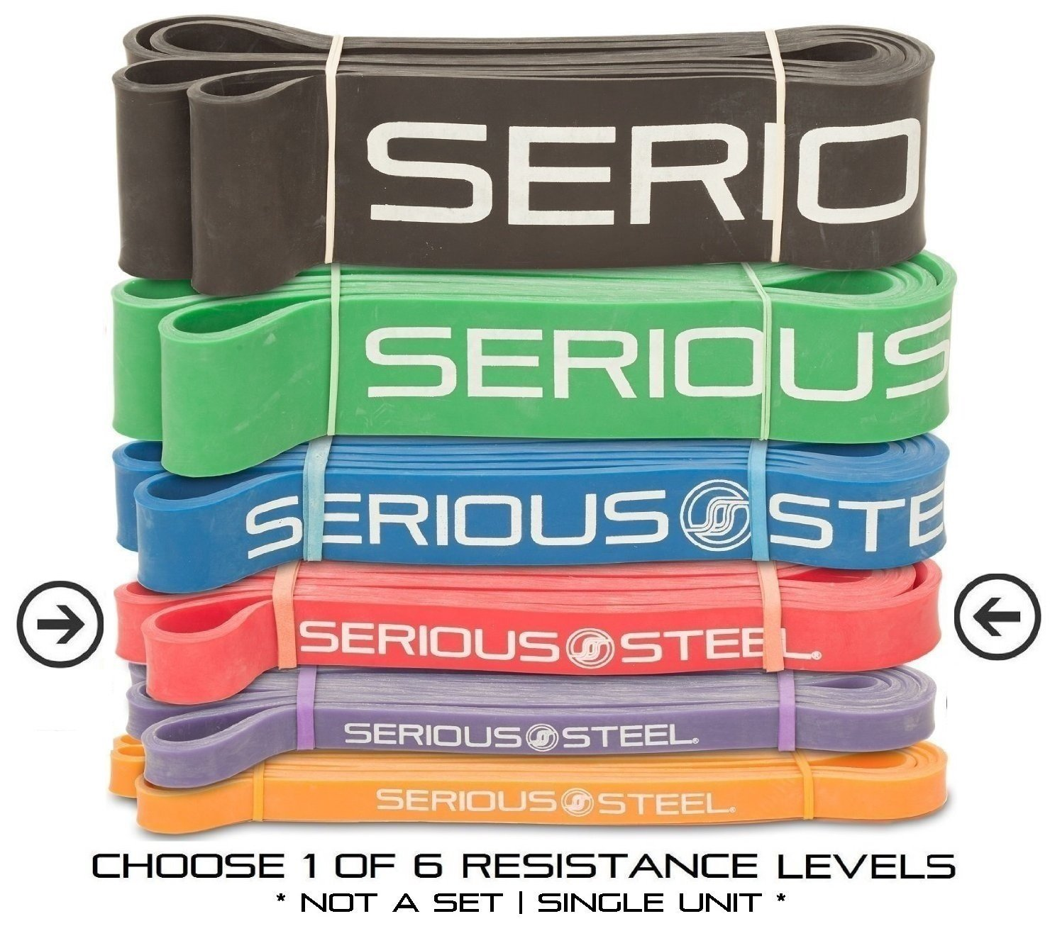 Serious Steel Fitness Red - #2 Monster Mini Pull-up Assist & Resistance Band (Size: 13/16'' x 4.5mm Resistance: 10-50lbs) by Serious Steel Fitness (Image #1)