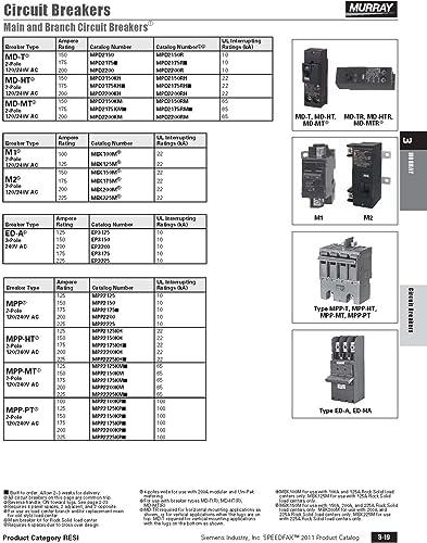 Murray MPP2175 120 240-Volt 4-pole type MPP 175-Amp Main Breaker