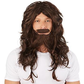 dressforfun Peluca de Vikingo Guerrero para Hombre | Incl. Genial Barba | Disfraz Perfecto para