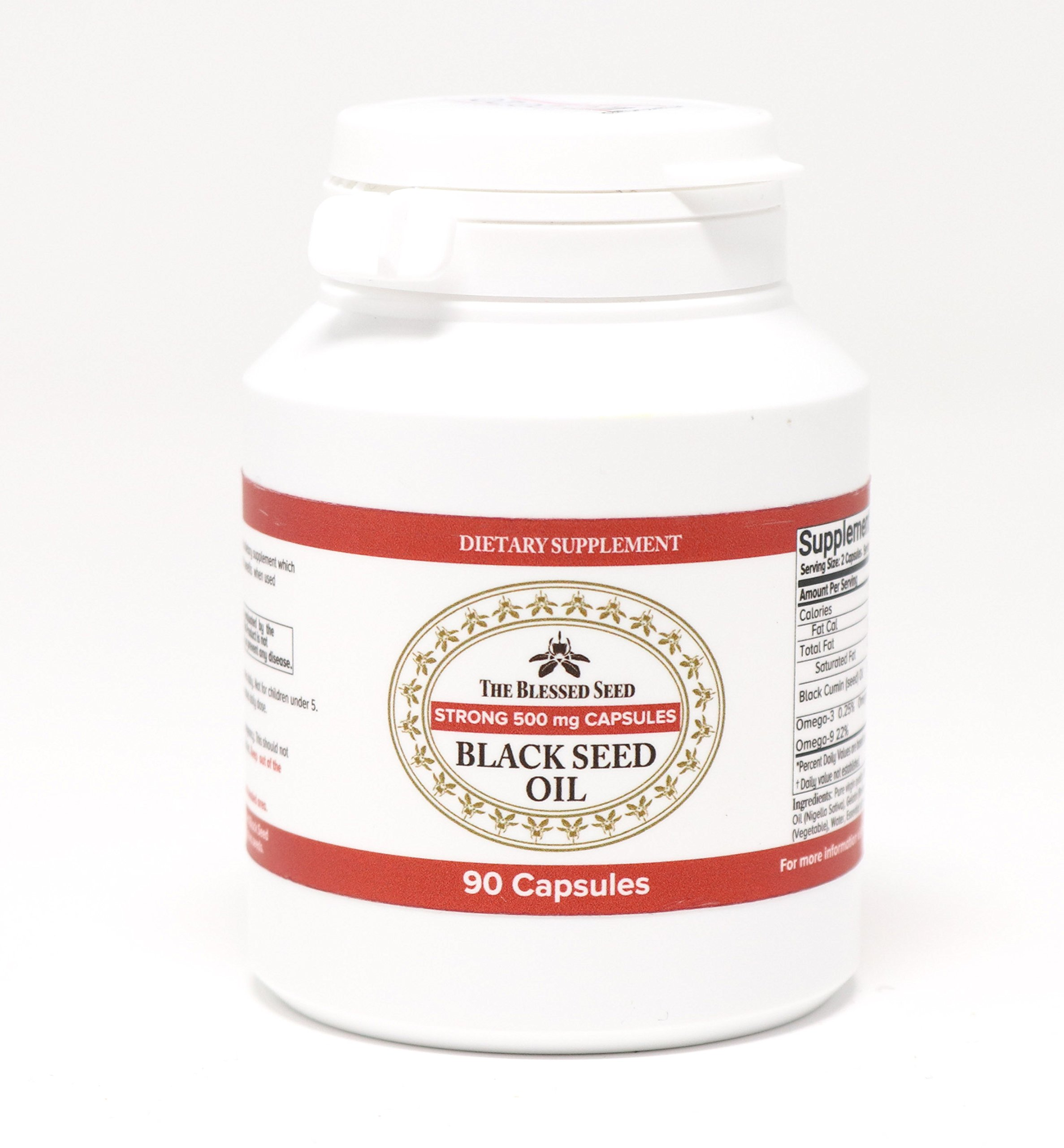 The Blessed Seed STRONG BLACK SEED OIL CAPSULES 90 X 500MG