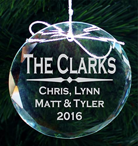 Personalized Family Christmas Ornament, Custom Etched Handmade Crystal  Ornaments - COR008 - Amazon.com: Personalized Family Christmas Ornament, Custom Etched