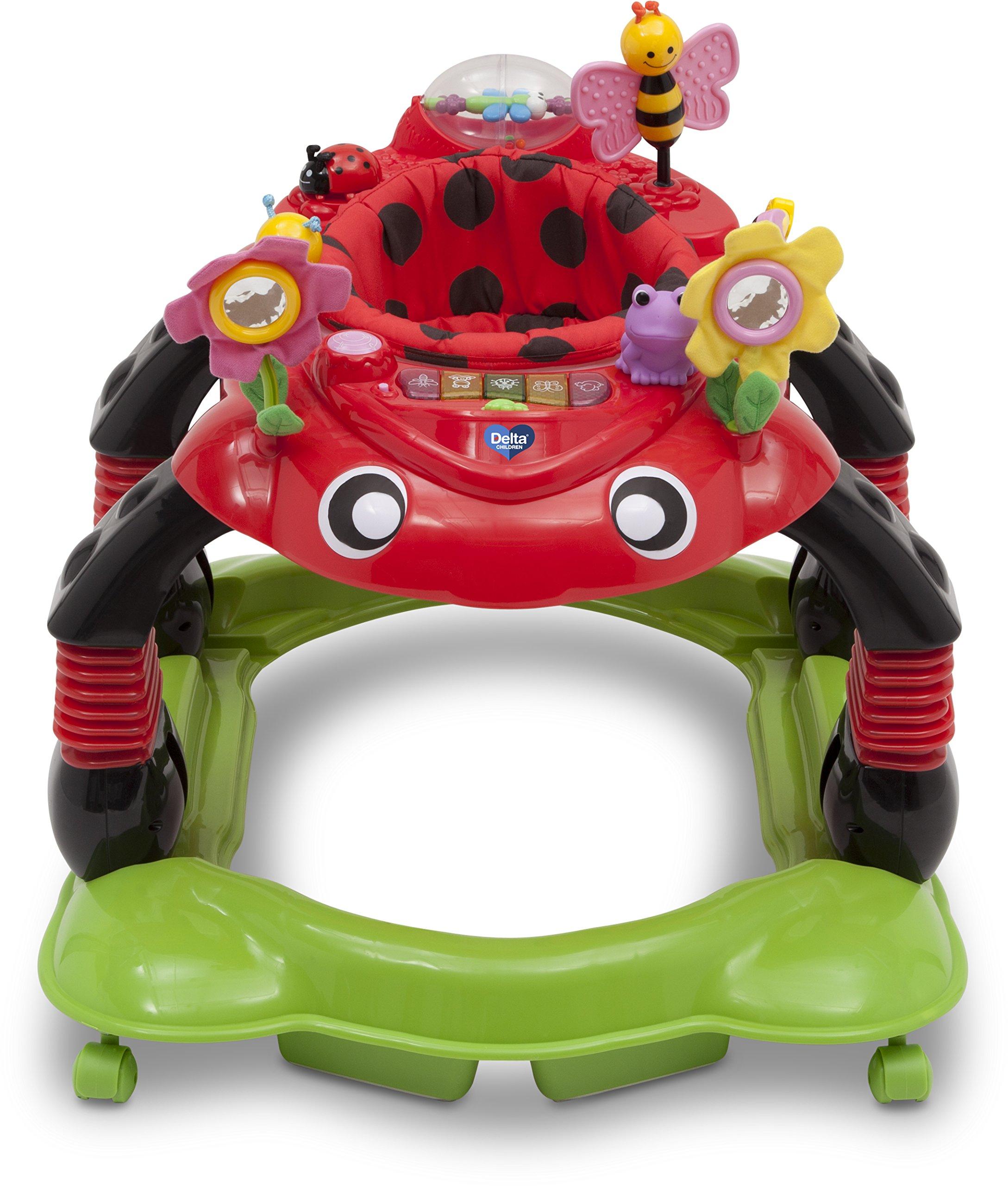 Delta Children Sadie the Ladybug Lil' Play Station 3-in-1 Activity Walker