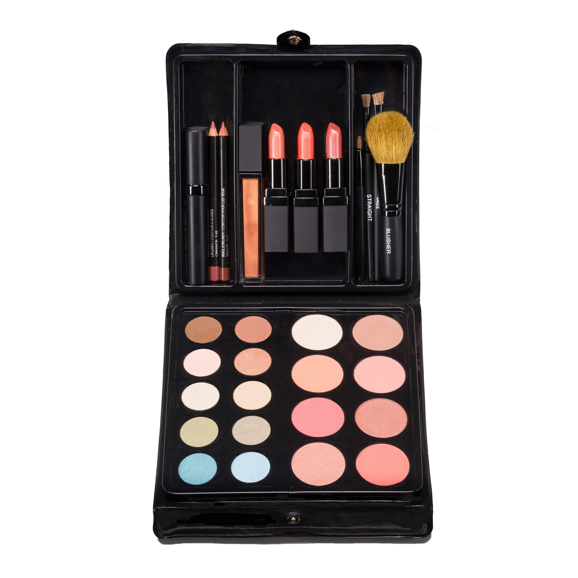 Ultimate Makeup Kit for Beginner to Pro: Shades for Warm Blondes: Eyeshadow, Contour, Blush, Lipstick, Lip Pencil, Lip Gloss, Mascara. By Jill Kirsh Color, Hollywood's Guru of Hue